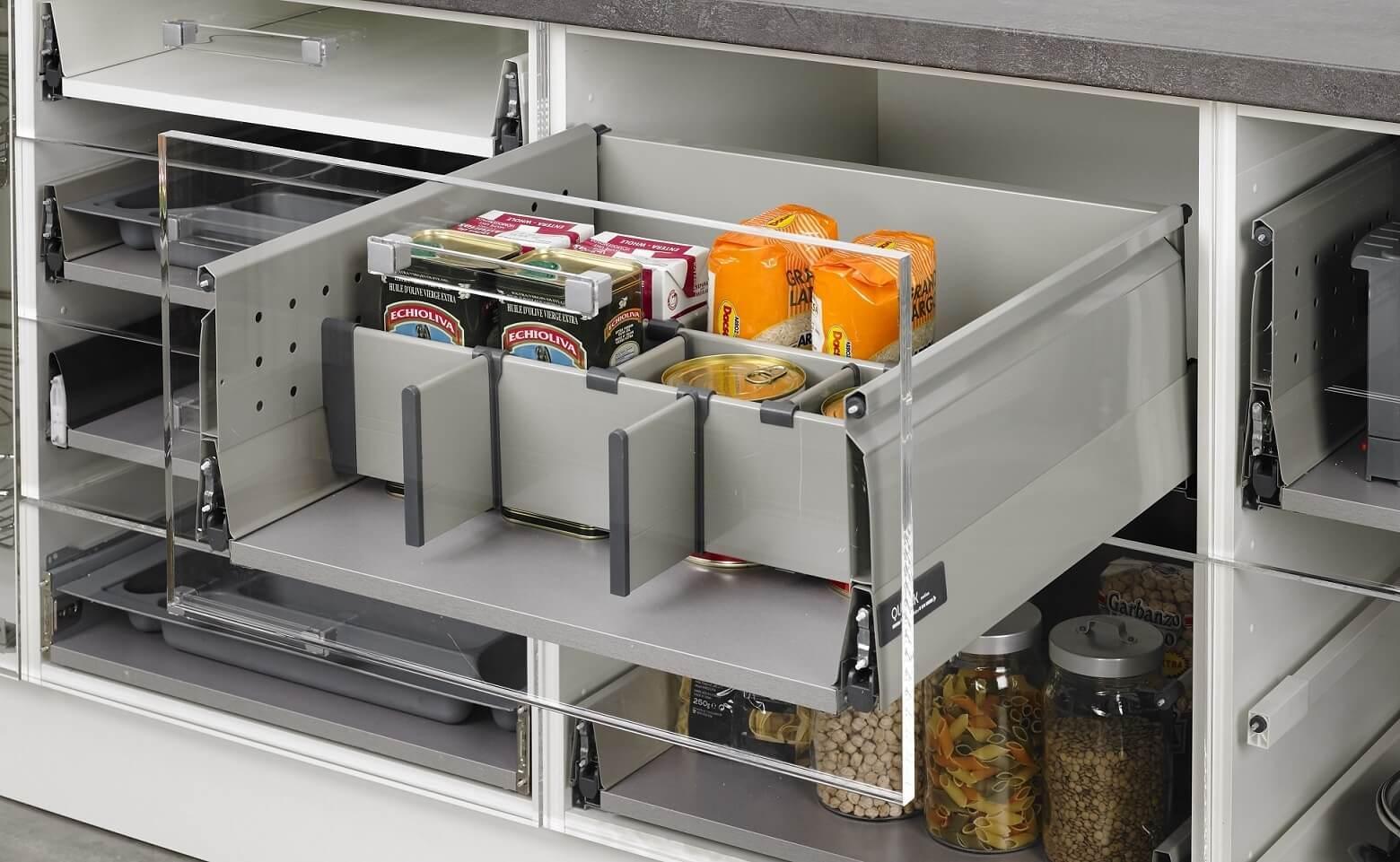 Separador horizontal gris para cacerolero cocinas moduvalkit - Ver cocinas montadas ...