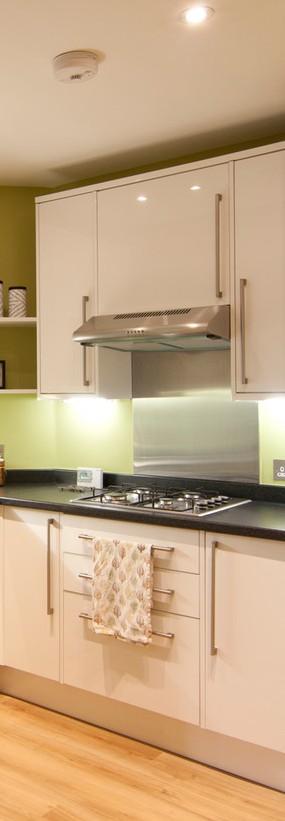 Muebles de cocina blanca mate 1 800mm cocinas moduvalkit - Cocina blanca mate ...
