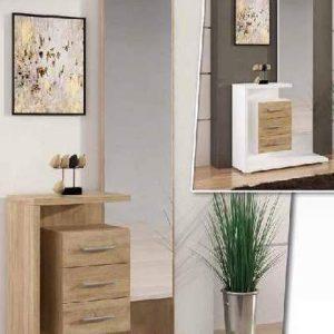 Recibidor elegante moderno con espejo Cocinas Moduvalkit
